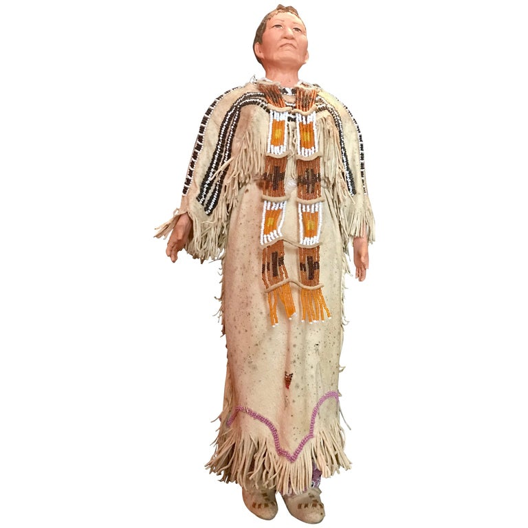 Native American Indian Doll with Traditional Lakota Sioux Cherokee