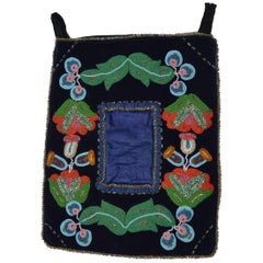 Native American Indian Ojibwe  Beaded Picture Frame Pocket