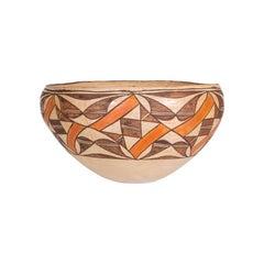 Native American Luguna Pottery Dough Bowl, circa 1920