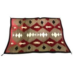 Native American Navajo Crystal Region Handwoven Rug, circa 1920s