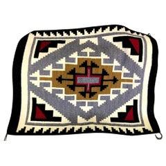 Native American Navajo Handwoven Geometric Rug Mat