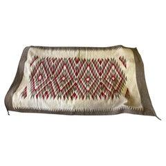 Native American Navajo Large Colorful Hand Woven Geometric Pattern Rug Blanket