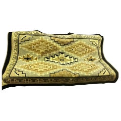 Native American Navajo Large Colorful Handwoven Geometric Pattern Rug Blanket