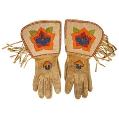 Native American Plateau Beaded Gauntlets