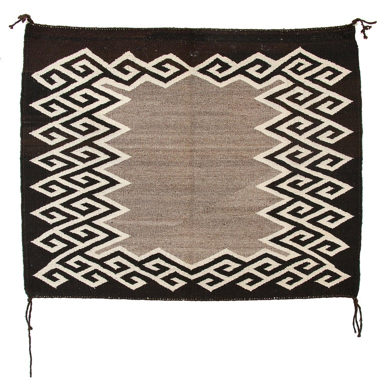 Vintage Navajo single saddle blanket, also known as a