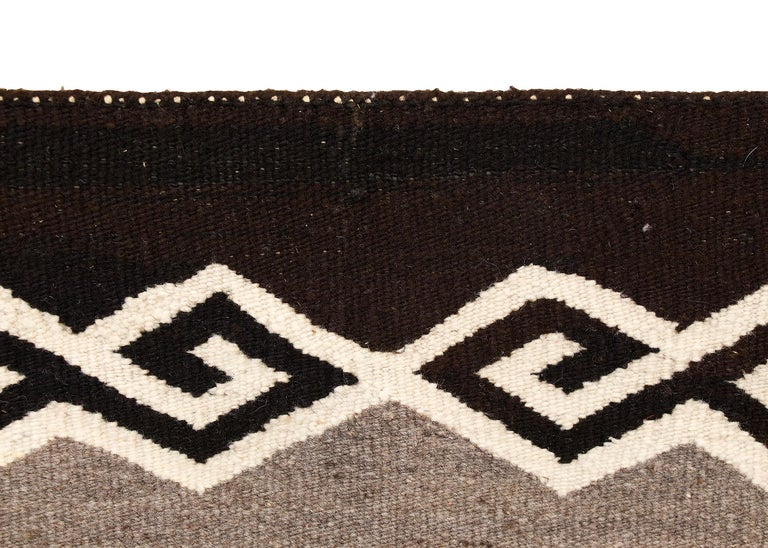 Mid-20th Century Native American Sunday Saddle Blanket Navajo, circa 1930 For Sale