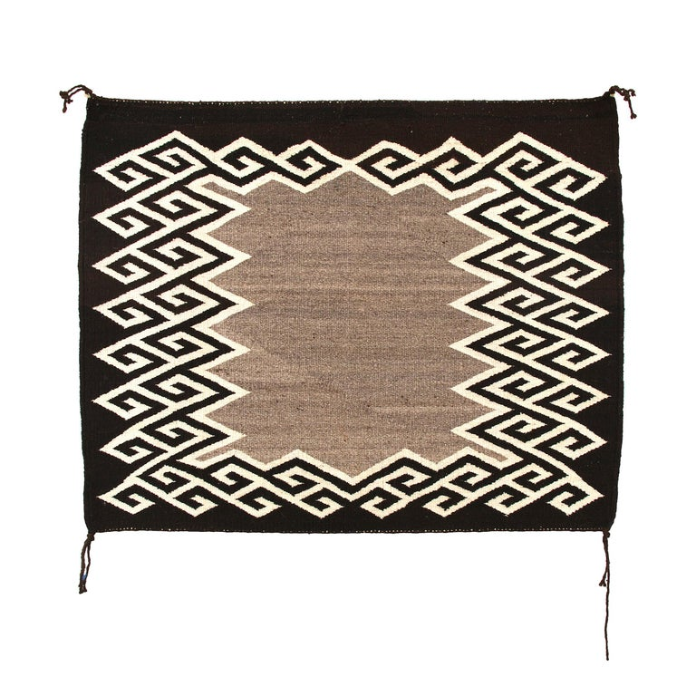 Native American Sunday Saddle Blanket Navajo, circa 1930 For Sale