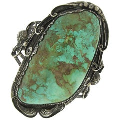 Native American Turquoise Large Cuff Bracelet