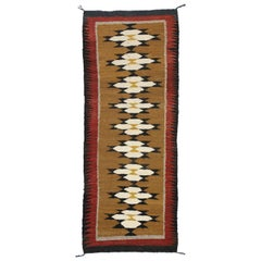 Native American Vintage Indian Navajo Kilim Runner with Adirondack Lodge Style