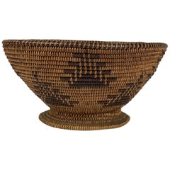 Native American Woven Bowl Form Basket