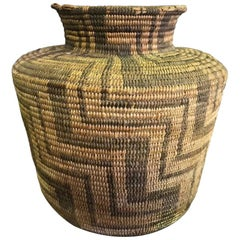 Native North American Pima Tribe Handwoven 19th Century Basket
