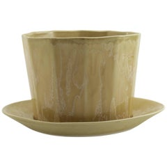 Native Planter Honey Crystal Planter Modern Contemporary Glazed Porcelain