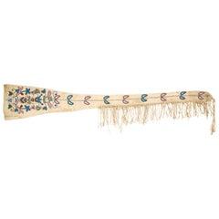 Native Santee Sioux Floral Beaded Gun Scabbard