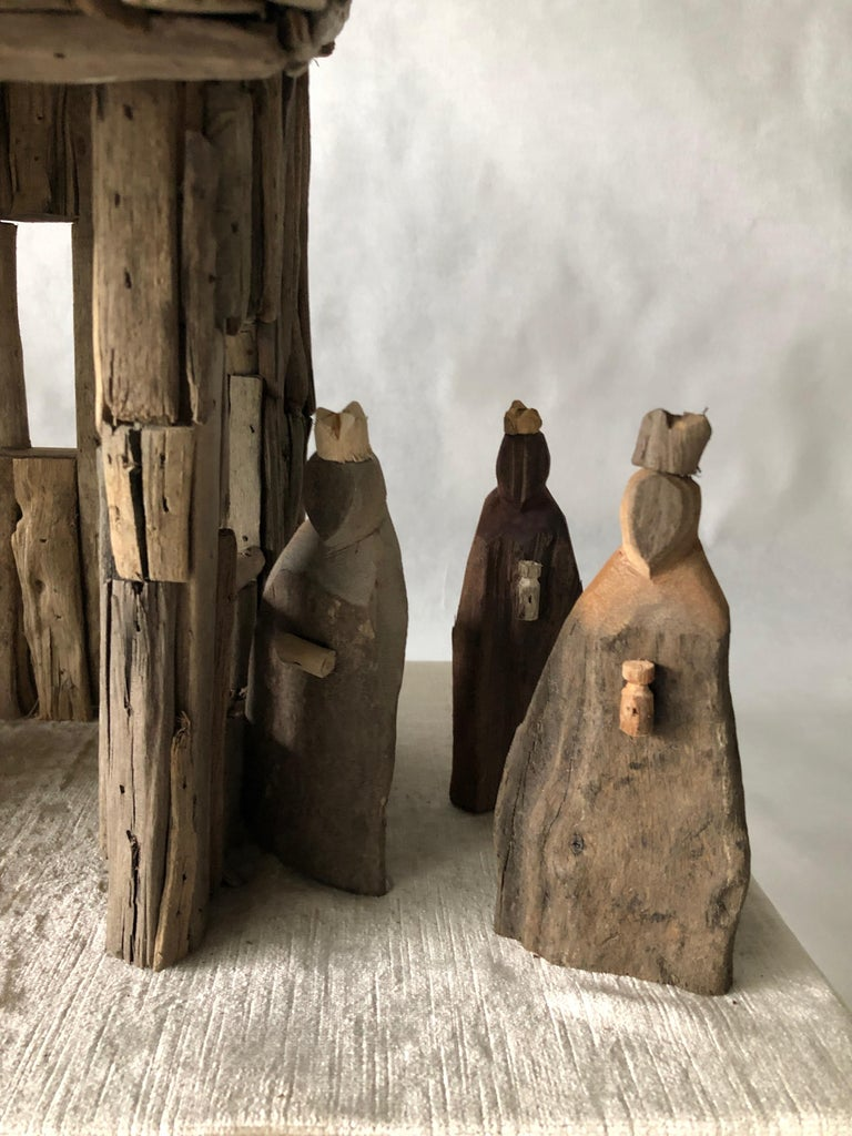 Nativity Scene in Driftwood and Lucite Object D'art by AMK for Patricia Kagan For Sale 6