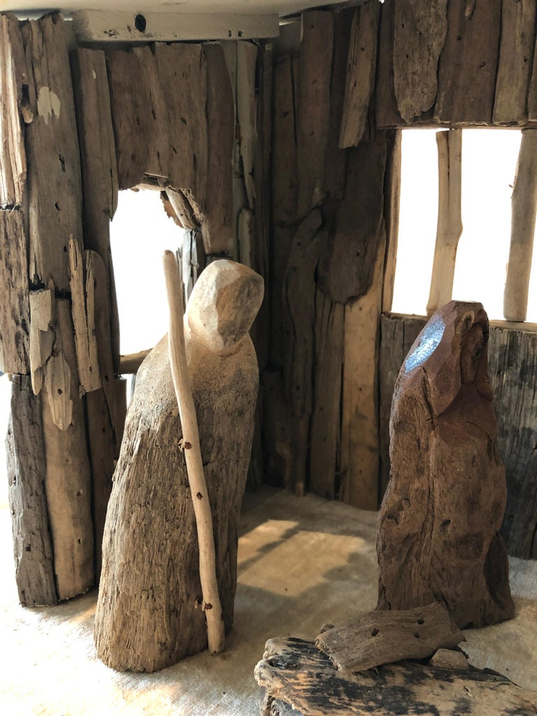 Nativity Scene in Driftwood and Lucite Object D'art by AMK for Patricia Kagan For Sale 8