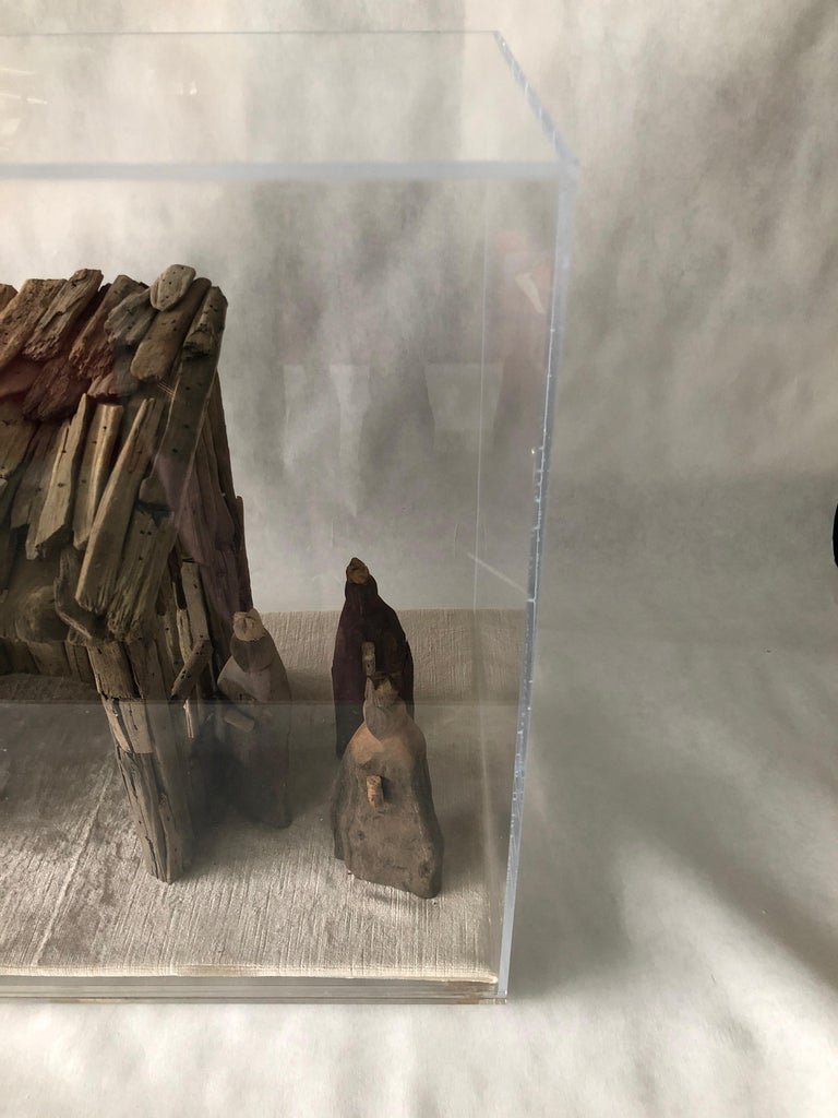 Nativity Scene in Driftwood and Lucite Object D'art by AMK for Patricia Kagan For Sale 12