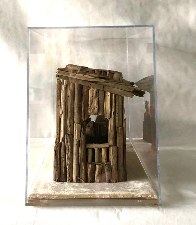 Nativity Scene in Driftwood and Lucite Object D'art by AMK for Patricia Kagan In Good Condition For Sale In Houston, TX