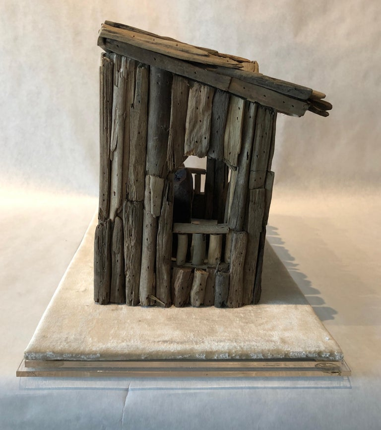 Nativity Scene in Driftwood and Lucite Object D'art by AMK for Patricia Kagan For Sale 1