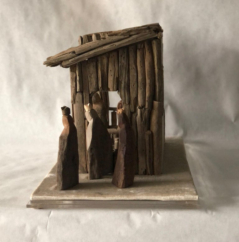 Nativity Scene in Driftwood and Lucite Object D'art by AMK for Patricia Kagan For Sale 2