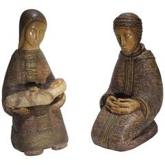 Nativity Set, Mary and Joseph and Jesus