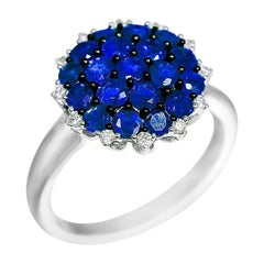 Natkina Blue Sapphire Diamond Impressive Ring for Her