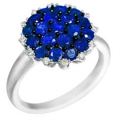 Natkina Blue Sapphire Diamond Impressive Ring