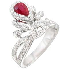 Natkina Ruby Diamond Impressive Ring for Her