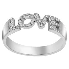 Natkina White Diamond Precious White Gold LOVE Ring