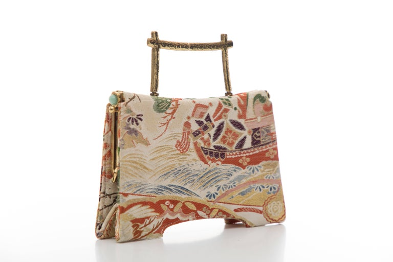 Natori Jacquard Woven Evening Bag For Sale 1