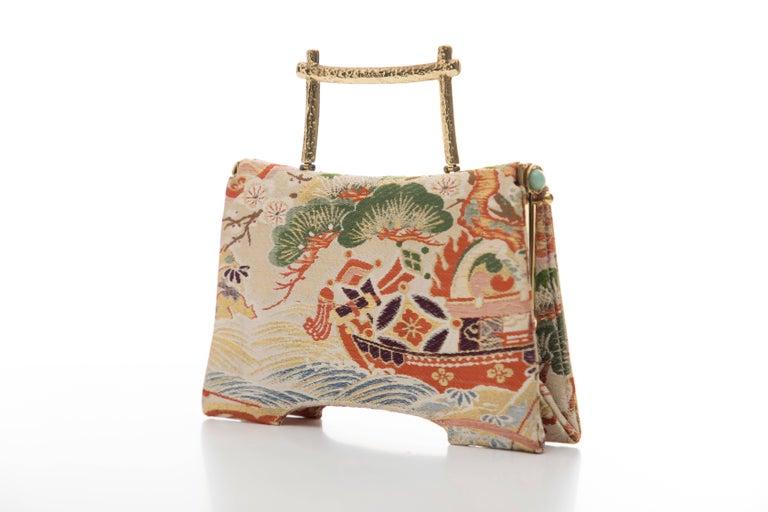 Natori Jacquard Woven Evening Bag For Sale 3