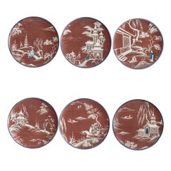 Natsumi Set of Six Red Plates