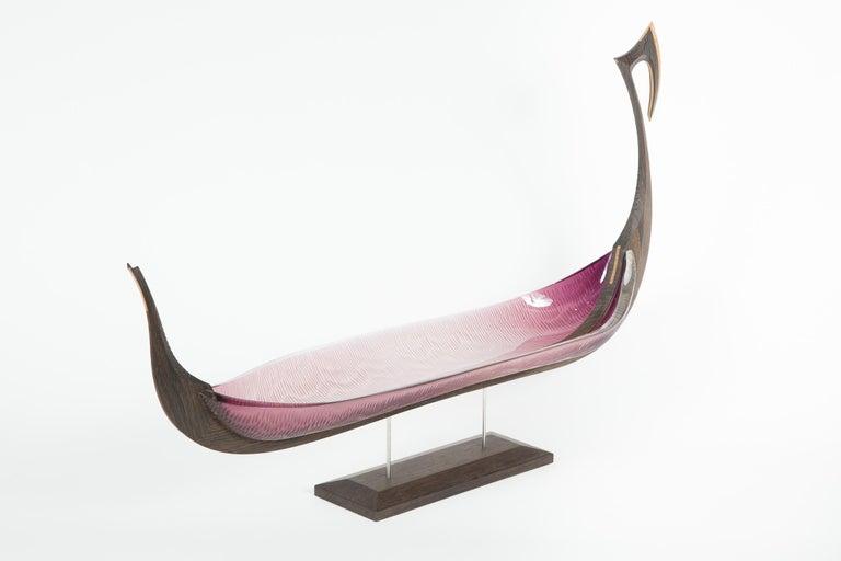 Nattesværdet, a glass & wooden unique Sculpture by Backhaus & Brown and Egeværk For Sale 2