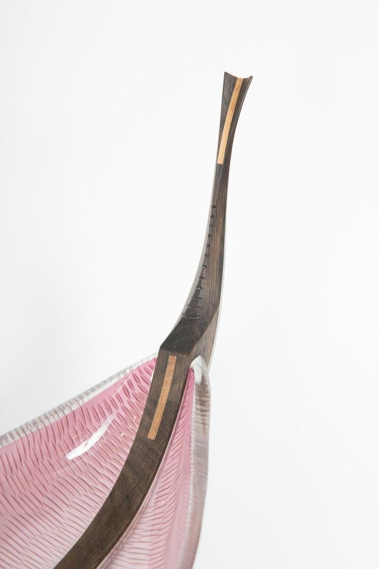 Contemporary Nattesværdet, a glass & wooden unique Sculpture by Backhaus & Brown and Egeværk For Sale