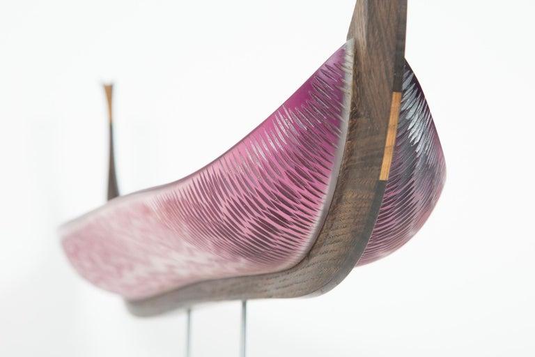 Nattesværdet, a glass & wooden unique Sculpture by Backhaus & Brown and Egeværk For Sale 1