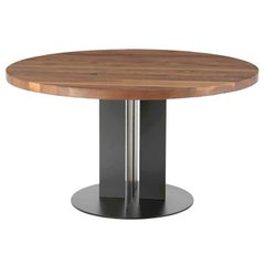 Natura Tondo Wood Dining Table, Designed by C.R. & S, Made in Italy