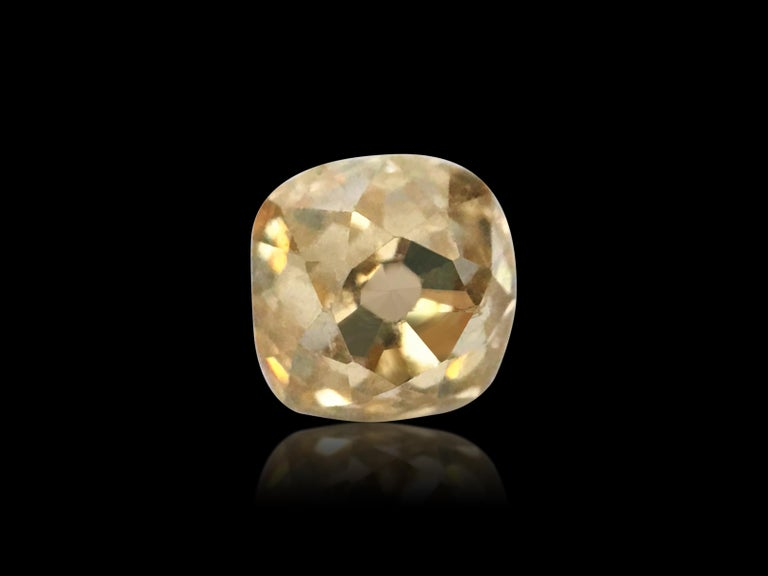 Carat weight: 0.40 carat. Cut: Old miner. Clarity: VS. Color: Fancy brown. 100% natural earth mined loose diamond. Old mine cuts, we are talking about diamonds being cut up to 300 years ago. The old mine cut is probably the oldest recognized cut
