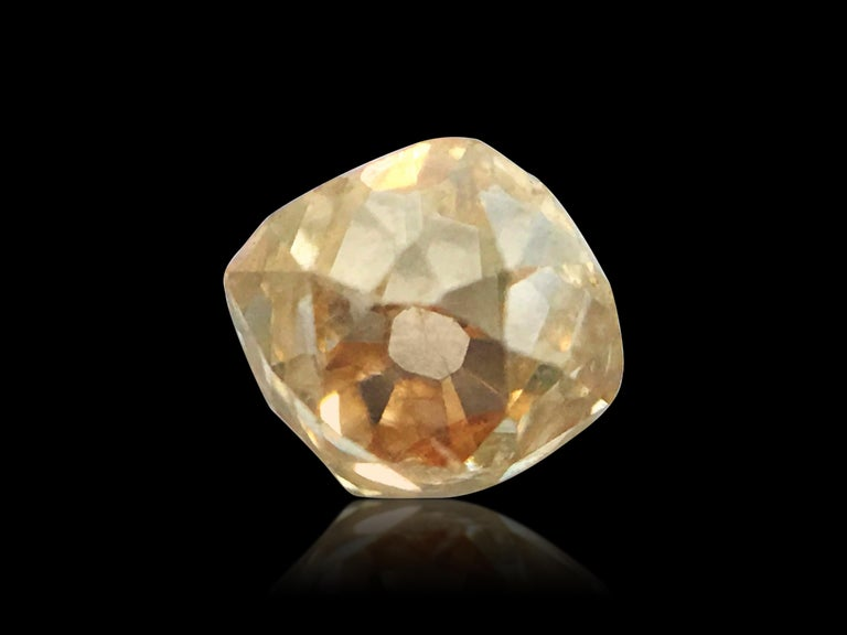 Old Mine Cut Natural 0.40ct Victorian Era Old Miner Loose Diamond For Sale