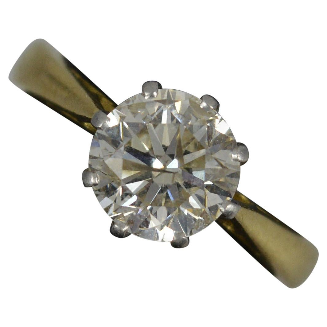 Natural 1.40ct Diamond and 18ct Gold Solitaire Engagement Ring