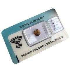 Natural 1.90 Carat Brown Orange Cognac Sapphire IGI Certified Oval Cut Rare Gem