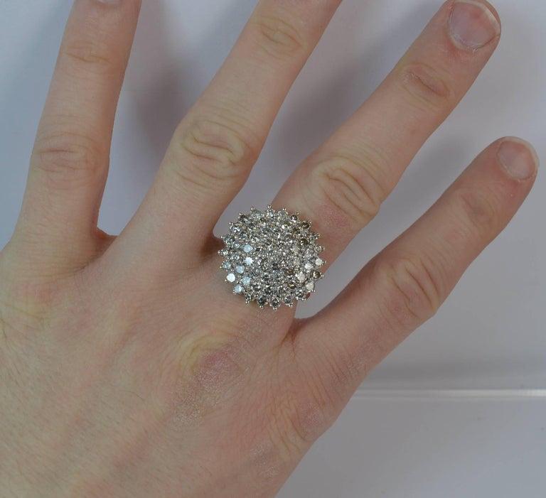 f79f50c23285a Natural 2.50 Carat Diamond 9 Carat Gold Cluster Ring