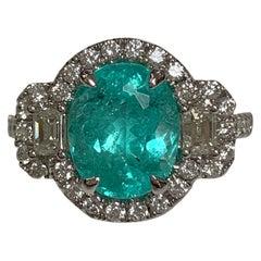 Natural 2.95 Carat Copper Bearing Tourmaline Ring