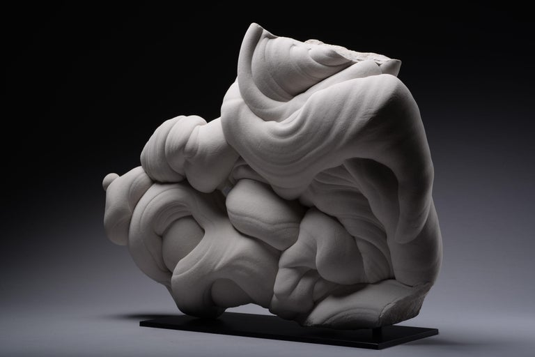 French Natural Abstract Sculpture, Rare Sandstone Gogotte Formation For Sale