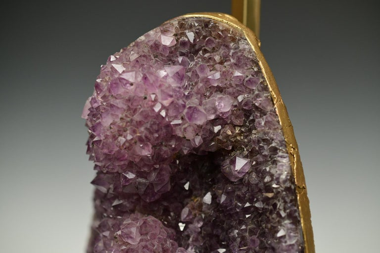 Natural Amethyst Sculpture Lamps For Sale 1