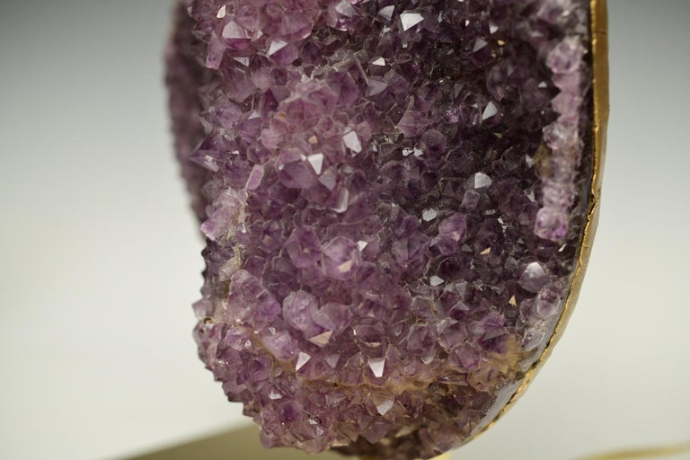 Natural Amethyst Sculpture Lamps For Sale 2
