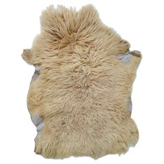 Natural Angora Plush Sheepskin Accent Rug