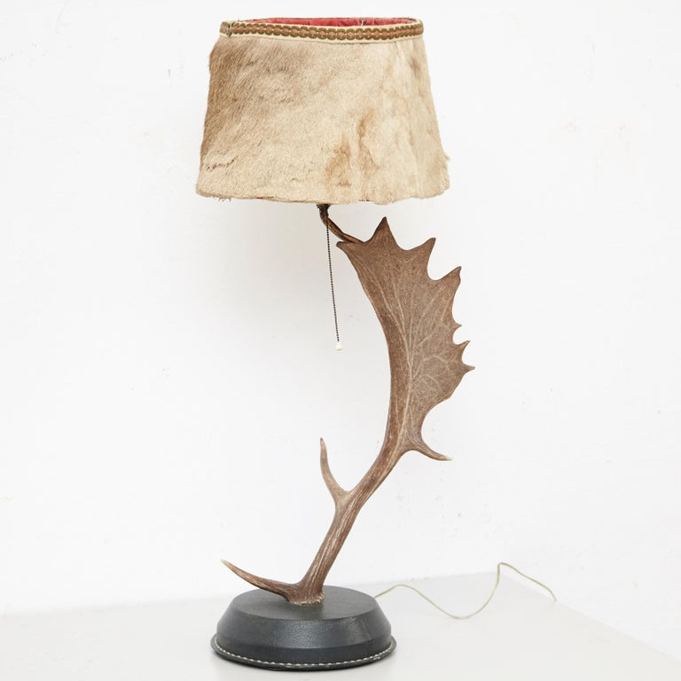Neoclassical Natural Antler Table Lamp Deer Horn For Sale
