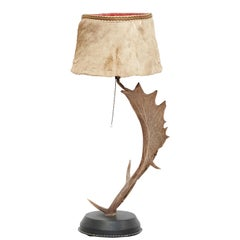 Natural Antler Table Lamp Deer Horn