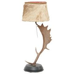 Natural Antler Table Lamp Deer Horn