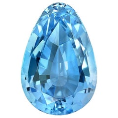 Natural Aquamarine Pear Shape 13.70 Carat