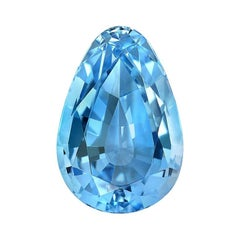 Aquamarine Pear Shape Gem 13.70 Carat Loose Unset Gemstone